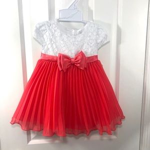 Sweet Heart Rose Pleated Special Occasion Dress
